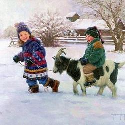 Пазл онлайн: Зимние радости