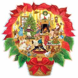 Пазл онлайн: Викторианская рождественская пуансеттия