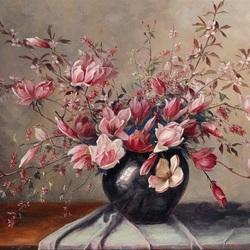 Пазл онлайн: Розовый букет