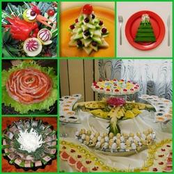 Пазл онлайн: Варианты к Новогоднему столу