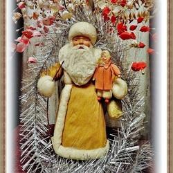 Пазл онлайн: Ретро Дедушка Мороз