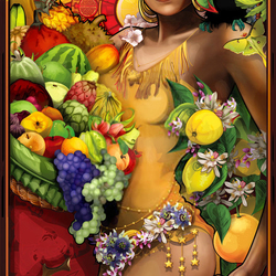Пазл онлайн: Богиня фруктов