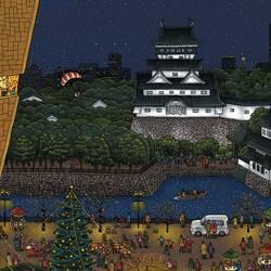 Пазл онлайн: Рождество в Киото