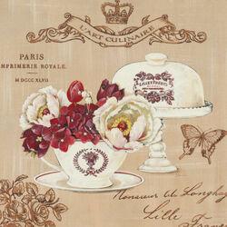 Пазл онлайн: Посуда и цветы