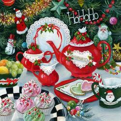 Пазл онлайн: Рождественское чаепитие