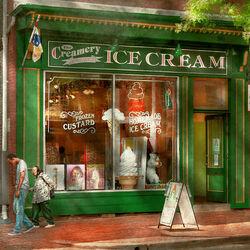 Пазл онлайн: Кафе-мороженое
