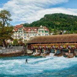 Пазл онлайн: Серфинг в городе