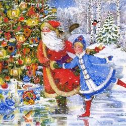 Пазл онлайн: Новогоднее  веселье
