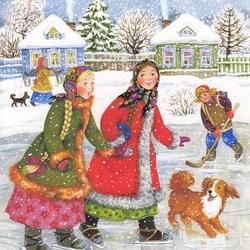 Пазл онлайн: Зимнее веселье