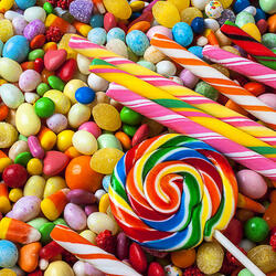 Пазл онлайн:  Столько конфет