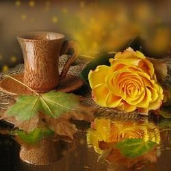 Пазл онлайн: Кофе с осенью