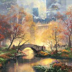 Пазл онлайн: Центральный парк осенью