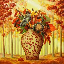 Пазл онлайн: Октябрьский листопад