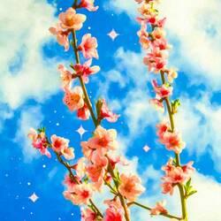 Пазл онлайн: Цветущие ветки