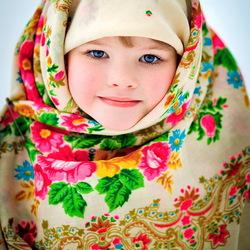 Пазл онлайн: Девочка и зима