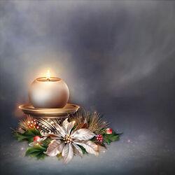 Пазл онлайн: Рождественский огонек