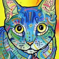 Пазл онлайн: Голубой кот