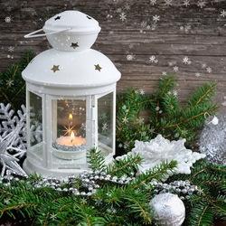 Пазл онлайн: Новогодний фонарик