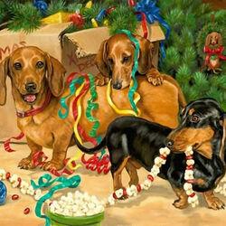 Пазл онлайн: Рождественские декораторы