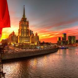 Пазл онлайн: Московский закат
