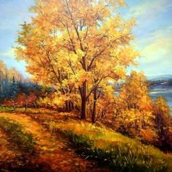 Пазл онлайн: Роняет осень листья