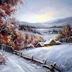 Пазл онлайн: Зима в горах