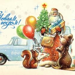 Пазл онлайн: Новогодняя почта