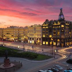 Пазл онлайн: Сумерки на Невском проспекте