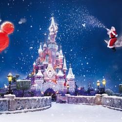 Пазл онлайн: Рождество в Диснейленде