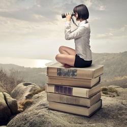 Пазл онлайн: В мире книг