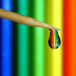 Пазл онлайн: Цветная капля