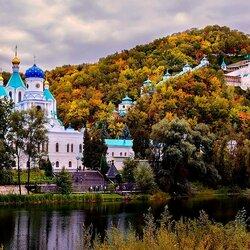 Пазл онлайн: Свято-Успенская Святогорская Лавра