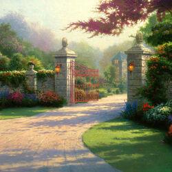 Пазл онлайн: Ворота в летний сад
