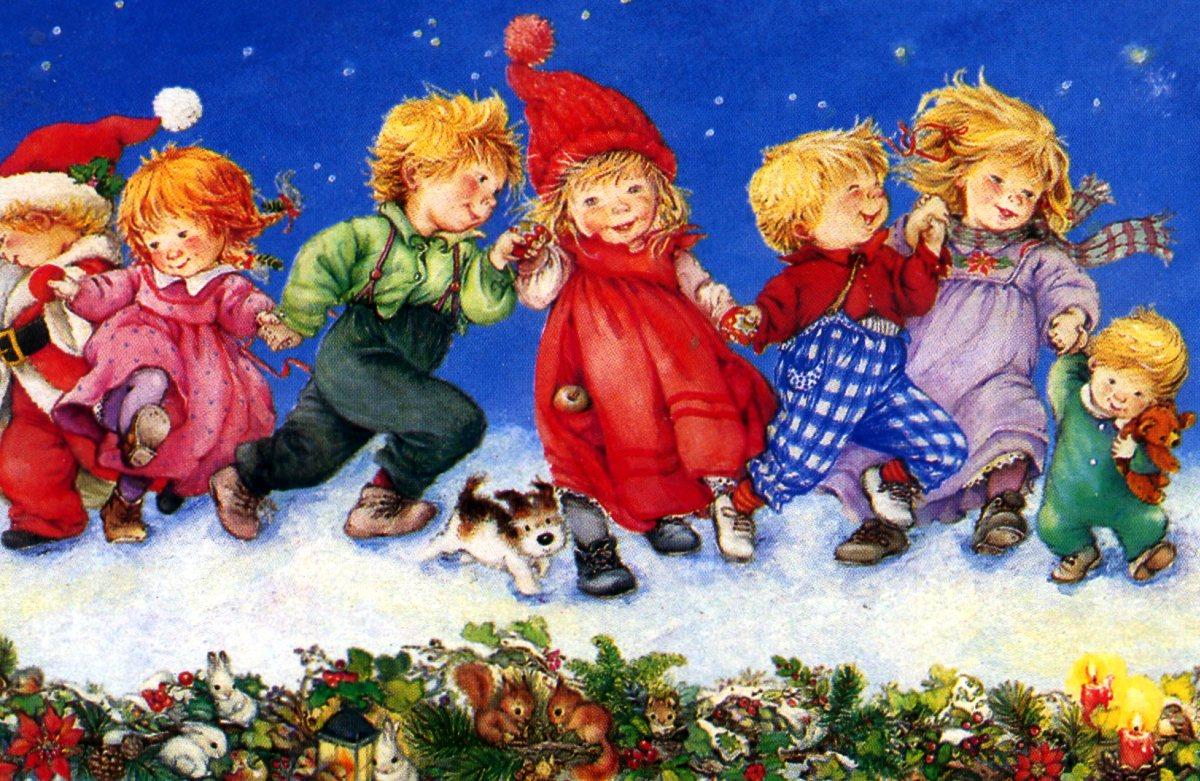 Картинка новогоднего хоровода