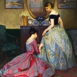 Пазл онлайн: Украшение платья