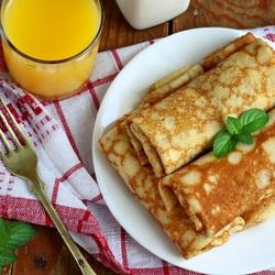 Пазл онлайн: Блинчики на завтрак