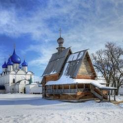 Пазл онлайн: Зима в Суздале