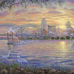 Пазл онлайн: По реке