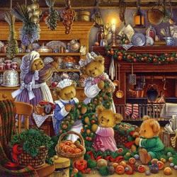 Пазл онлайн: Подготовка к празднику