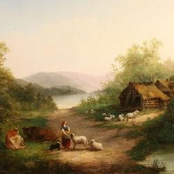 Пазл онлайн: Сельский пейзаж