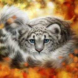 Пазл онлайн: В осенних листьях