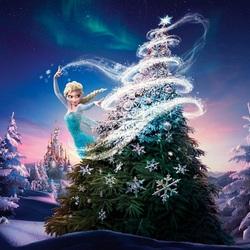 Пазл онлайн: Рождество для Эльзы