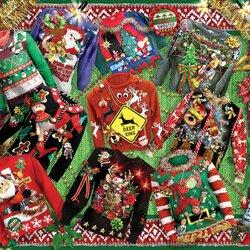Пазл онлайн: Забавные рождественские свитера