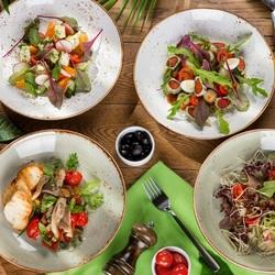 Пазл онлайн: Вкусные салатики
