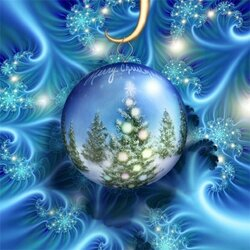 Пазл онлайн: Рождественский фрактал