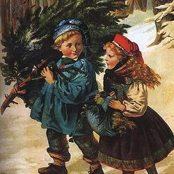 Пазл онлайн: The Christmas Tree/Рождественское дерево