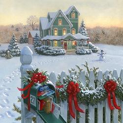 Пазл онлайн: Почта на Рождество