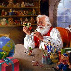 Пазл онлайн: Мастерская Санта Клауса