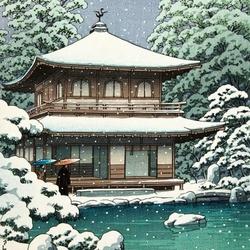 Пазл онлайн: Зима в Японии