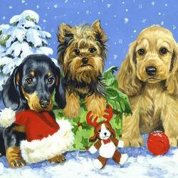 Пазл онлайн: Друзья в Рождество